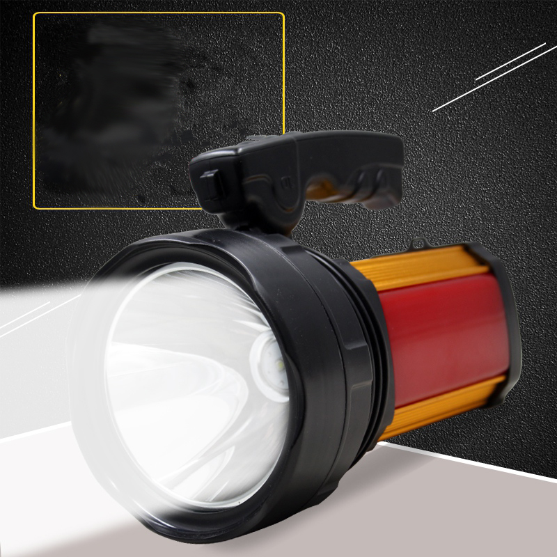 Super Bright LED Solar Energy Flashlight Rechargeable Lights Remote Searchlight Outdoor  ...