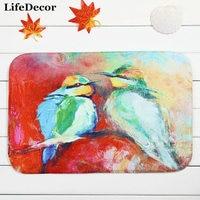home decoration coral velvet carpet mats Two Oriole doormat kitchen bathroom bath mat absorbent non-slip mat 40*60cm