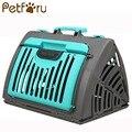 Petforu plegable gato perro jaula sólida portátil de viaje para mascotas llevando cesta