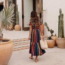 1 Pcs Women Short Sleeve Stripe Printing Round Collar Dress Fashion for Summer TY53 morden style elastic unique collar design short sleeve cotton blend women s stripe dress