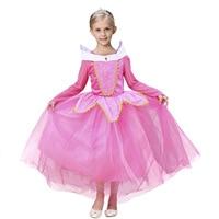 Enfants Sleeping Beauty Cosplay Costume Princess Carnival Dresses 4t To 12 Years Old Girls Princess Cinderella