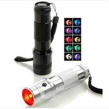 The flashlight can change color 10 color flashlight flashlight senior colorful gifts