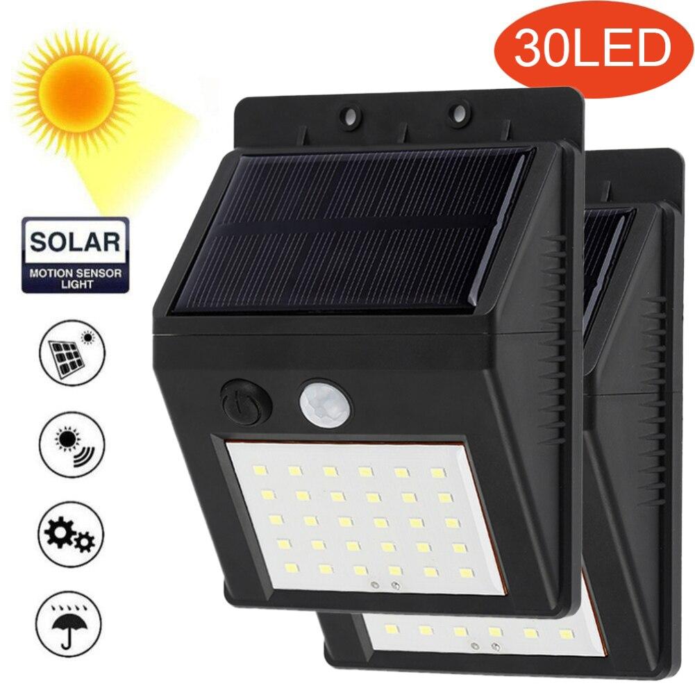 Solar recargable LED Bombilla de luz Solar lámpara de jardín al aire libre decoración PIR Noche del Sensor de movimiento de luz de pared impermeable