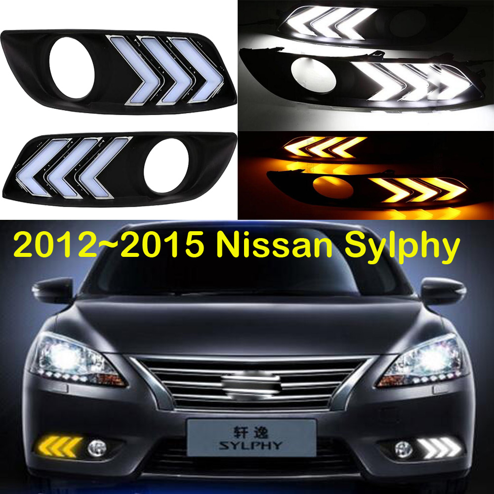 2012~2015 Sylphy daytime light,Qashqai,Free ship!LED,Sylphy fog light,2ps/set,Teana;Sylphy;R50,Sunny;X-Trail bluebird breaking light 2006 2011 free ship led sylphy rear light led 2pcs set sylphy taillight bluebird teana sunny march