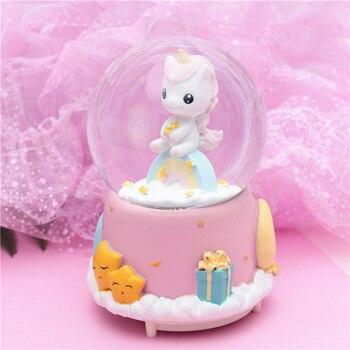Unicorn Light Crystal Ball Music Box