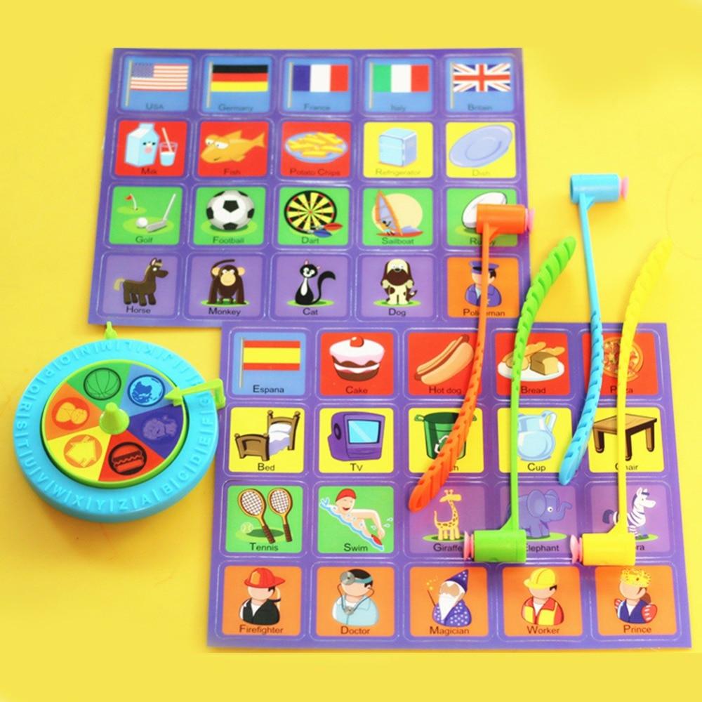 Лидер продаж дети ударов платы фото раннего обучения игры английское слово развивающие игрушки Пластик работает молоток интерактивная игр...