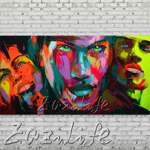 knife portrait Face Oil painting Character figure canva Hand painted Francoise Nielly  Art picture  room86