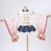 Envío Gratis Anime Cosplay de LoveLive Hoshizora Rin Cos Flor Elf Fiesta de Halloween