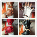 New arrival womens fashion semi-finger gloves fitness gloves hip-hop rivets pu leather gloves sexy cutout fingerless gloves