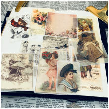 12 шт бумажные наклейки для книг в средневековом стиле