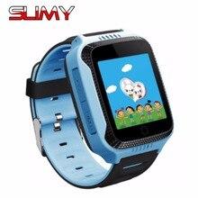 Лучшие Слизняк Q528 gps трекер Детские умные часы часов для безопасности детей SOS вызова Расположение Finder с 2 г sim-карты слот для IOS Android