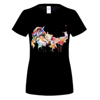 GILDAN Brand Design Horse Printed T Shirts Fashion Summer Short Sleeve T Shirt Sexy White T