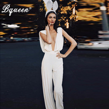 Bqueen Sexy Deep V Tank Women Jumpsuits Bodycon Casual Rompe