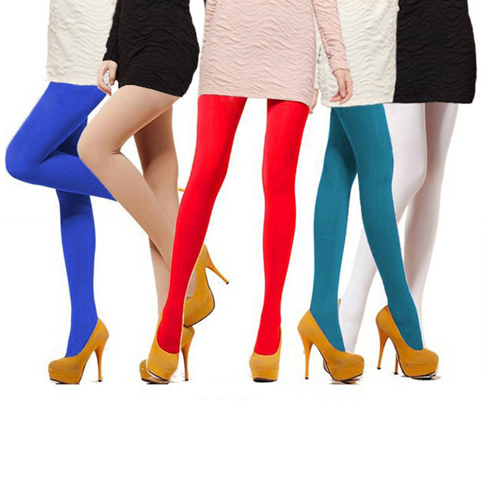 Women's 120D Tights Candy Color Casual Velvet Cotton Pantyhose Female Pantys Comfortable Flexible Tight 13 Colors