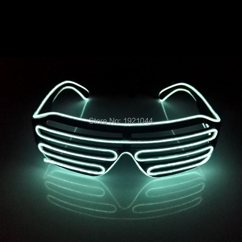 10 Colors Choice EL Wire Glasses Neno LED Light Glasses 3V Flashing EL Inverter Luminous Colorful Glowing For Party Decoration