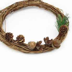 Image 5 - HUADODO 20Pieces Natural Dried flowers Pine cone Acorn Artificial Flower For Home Christmas DIY Garland Wreath Decoration