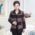 2017 novo casaco de cashmere em idosos mãe tamanho grande equipado um curto parágrafo da Primavera e No inverno de lã lapela casaco de lã