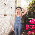 Brand Design Women Loose Denim Jumpsuits Casual Regular Jumpsuit Romper Female Suspender Overall Pants