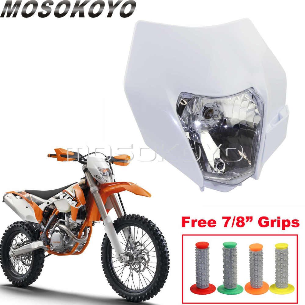 Ktm Dual Sport >> Detail Feedback Questions About White Plastic Front Headlight Mask