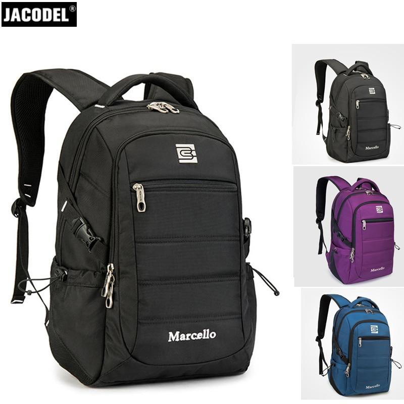 Jacodel Casual Laptop Bag for Computer Backpack 14 15.6 Inch Laptop Bag for Men Women Notebook Bag 15.6 14 for Macbook Lenovo HP jacodel unisex waterproof 13 14 15 15 6 inch laptop shoulder bag for men women 2017 notbook bag 15 6 14 13 3 inch messenger bags