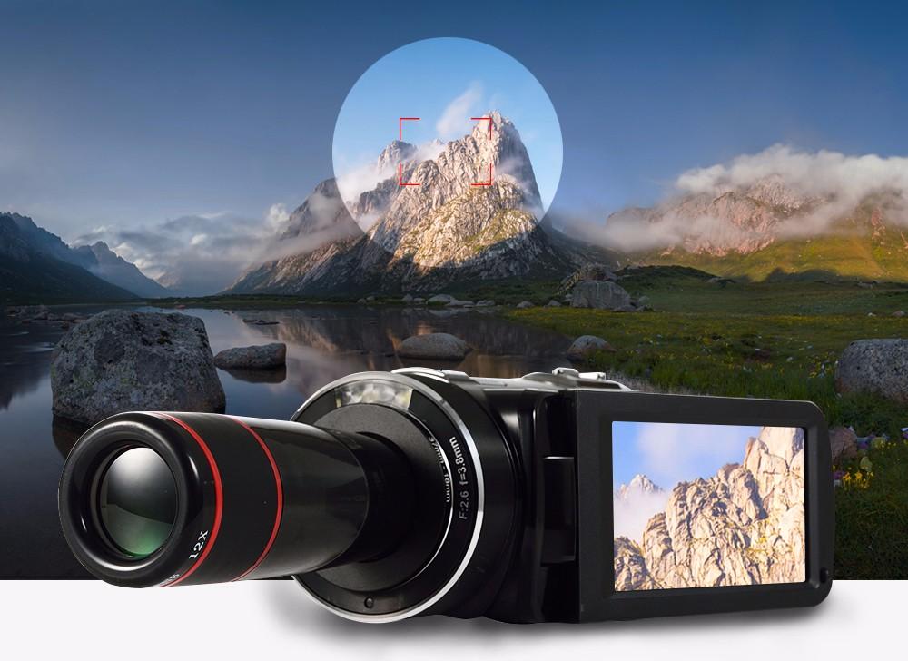 Ordro Camcorder HDV-Z18 Plus 1080P FHD Digital Video Camera Recording with 12X Teleconverter Remote Control HDMI Output 1