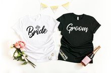 Skuggnas Bride and Groom shirts Wedding and Honeymoon T-shirt Mr and Mrs Tee Bridal Wedding Party t shirts Bride Top dropship