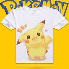 XHTWCY Pokemon Pikachu T shirt Men and Women Anime Cosplay Costume couple lover tshirt t