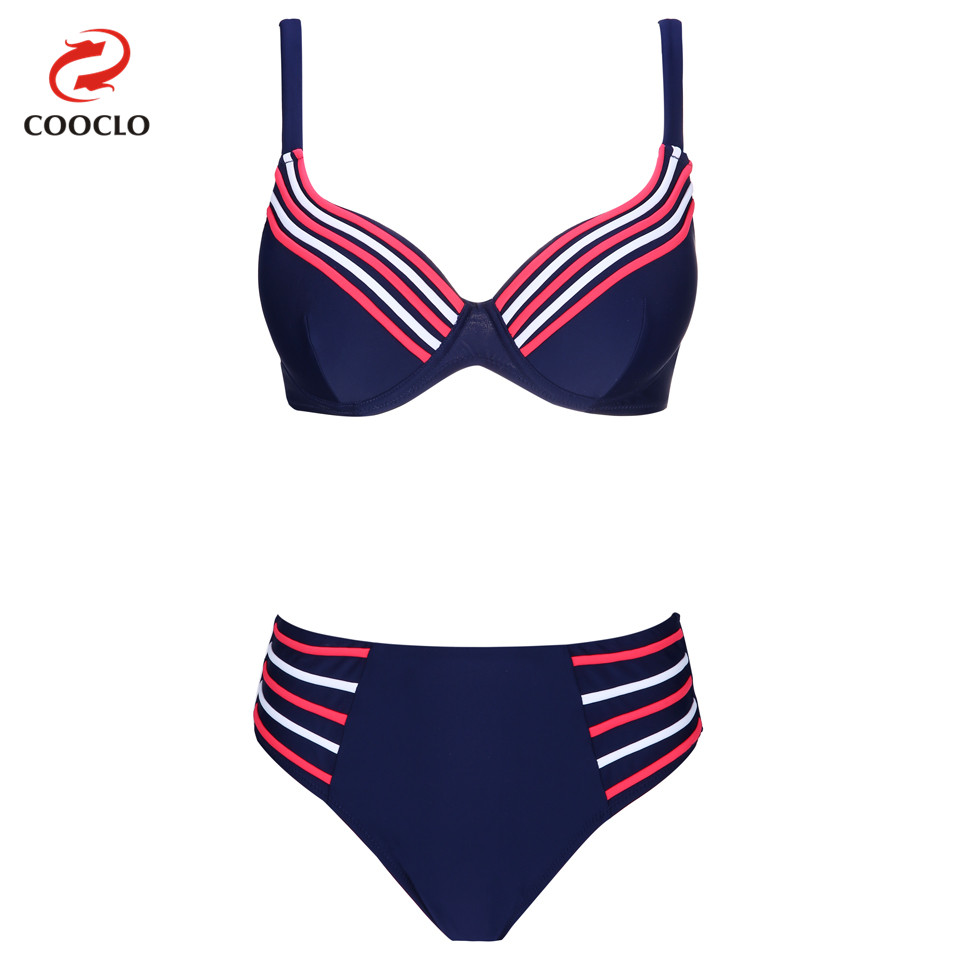 Modelli di Esplosione COOCLO Plus Size Bikini Push up Costumi Da Bagno Biquinis Vintage Women Bikini Regolati Costume Da Bagno Costumi Beach Wear