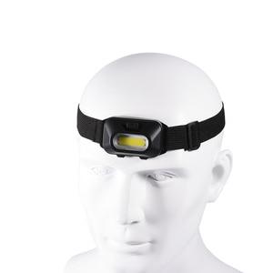 Image 2 - コバ cob ヘッドランプポータブルミニヘッドライト 5 色 3 モード使用 3 * AAA バッテリー防水超高輝度ライトキャンプランニング