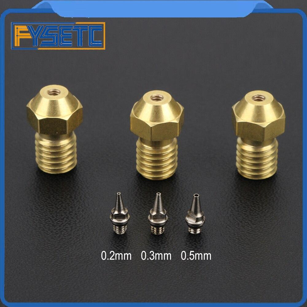 3D Printer Part 0.2/0.3/0.4/0.5mm Airbrush Nozzle Adapter Set Airbrush Nozzle Adapter With Nozzles For V6 Hotend 1.75mm Filament