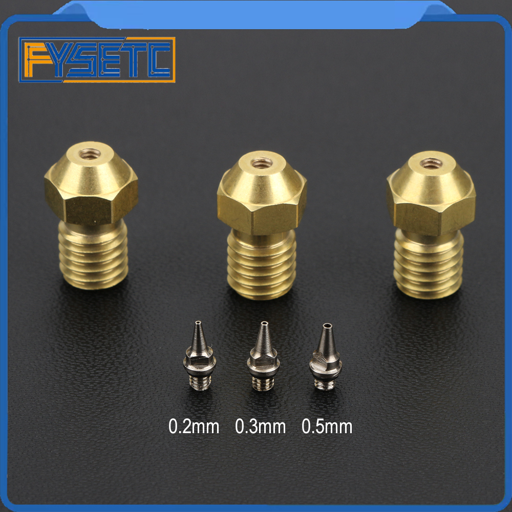 3D Printer Parts 0.2/0.3/0.5mm Airbrush Nozzle Adapter Set Airbrush Nozzle Adapter With Nozzles For V6 Hotend 1.75mm Filament