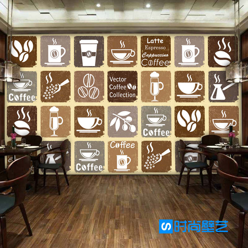 Free Shipping retro series wallpaper restaurant lounge casual bar coffee shop KTV background coffee menu wallpaper mural  free shipping european wine cellar wallpaper ktv bar restaurant industry lounge hall decoration beer cup wallpaper mural