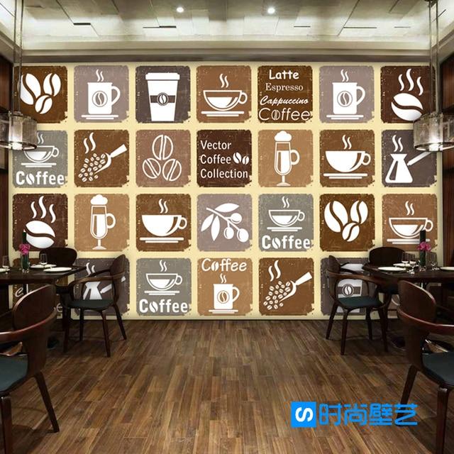 Photo Wallpaper Coffee Menu Restaurant Lounge Casual Bar Shop KTV Background Custom Size