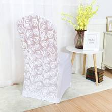 100pcs/lot Rosette Chair Cover For Wedding Chair Decoration Banquet Chair  Cover Free Shipping MARIOUS