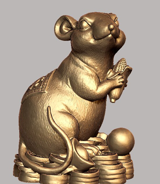 3d model relief for cnc in STL file format Lucky mouse3d model relief for cnc in STL file format Lucky mouse