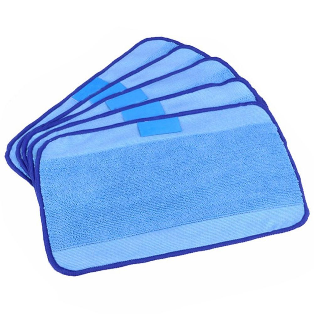 5-pack Wet Microfiber Mopping Cloths Washable&Reusable Mop Pads Fits iRobot Braava 380 380t 320 321 Mint 4200/4205/5200/5200C 12pcs wet cloths for braava replacement washable pro mopping cloths for irobot braava vacuum cleaner 380t 320 mint 4200 5200