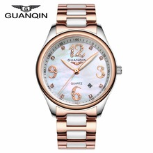 GUANQIN Women Watches Top Brand Luxury Fashion Casual Ceramic Watch Quartz Ladies Watch Female Clock Relojes