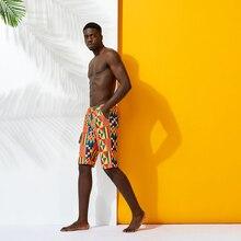 african print Swimwear men swimsuit Man swimming trunks sunga hot mens swim briefs Beach Shorts men contrast panel letter print swim briefs