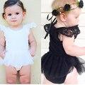 2016 мода детская одежда кружевном платье девочка хлопчатобумажную одежду новорожденного ребенка ползунки Bebes комбинезоны летние детские девушка одежда