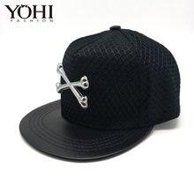 b215f1191d2 New Unique Design Metal Simple and stylish baseball cap hip hop hat Street  tide men and women flat hat