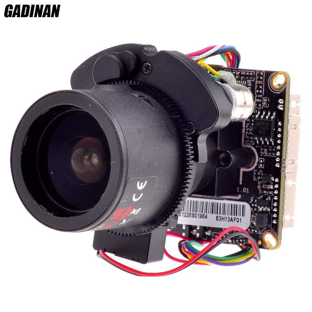 GADINAN 1.3MP Hi3518C+1/3 AR0130 H.264 Auto Foucus 2.8-12mm Zoom Lens Board IPC Module with LAN Cable Support ONVIF DWDR CMS удлинитель zoom ecm 3