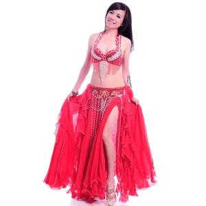 Image 5 - Professional adult belly dance costume set bra belt long skirt bellydancing dress woman indian carnival costume free shipping