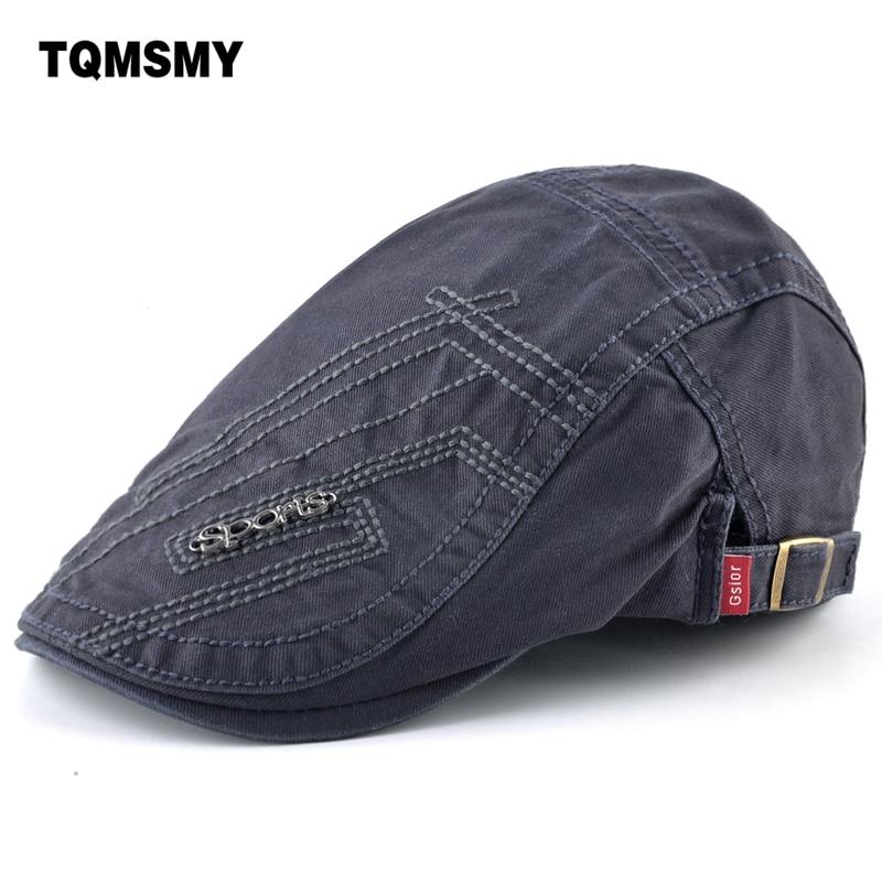 British retro caps Men Berets Cotton Hats Adjustable Casual