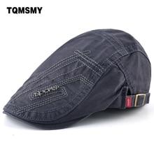 Hats Boina British Berets Peaked-Cap Men's Casual Cotton Visors Gorras-Planas-Bone Adjustable