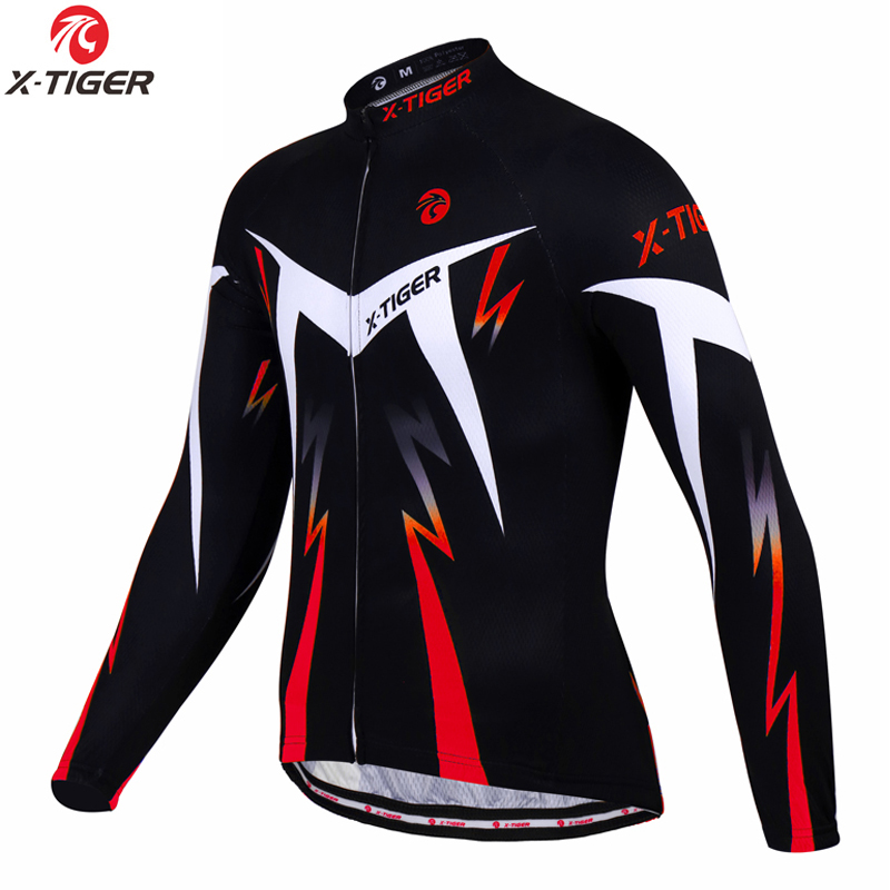 X-TIGER Sportswear Cycling-Jerseys Bike Bicycle Long-Sleeve Mens Pro MTB Autumn