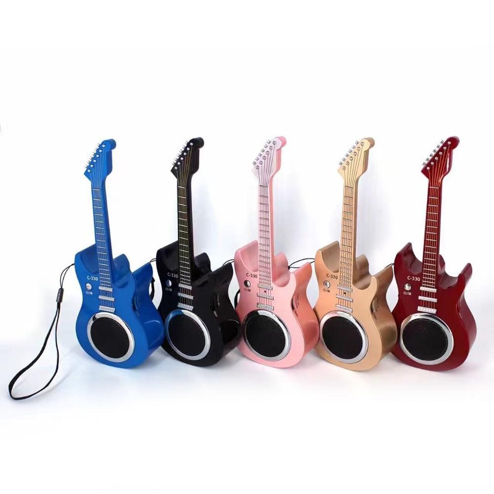 Mini Guitar Shaped Wireless Bluetooth Speaker Radio USB/TF card MP3 play Mini violin Music Stereo Soundbox hands-free Mic Speake i608 mini bluetooth v3 0 speaker stereo mp3 player w mic tf hands free white silver