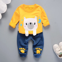 New 2017 Winter Autumn Baby Boys Clothing Set Bear Pattern Casual Sport Tracksuit Infant Toddler Boys