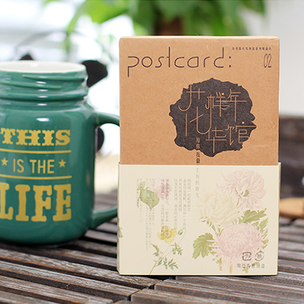 30 Pcs/lot Hand Drawing Flowers and Plants Postcard Greeting Card Christmas Card Birthday Card Gift Cards Free Shipping 30 pcs lot novelty yard cat postcard cute animal heteromorphism greeting card christmas card birthday message card gift cards