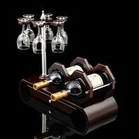 Деревянный держатель для бутылки вина и бокал вися декоративные бар посуда Посуда для напитков и Кухонные принадлежности Craft Орнамент Инти