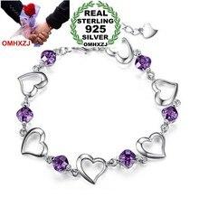 15e479ac0f3a OMHXZJ venta al por mayor de moda regalo de alta calidad de amatista de  Plata de Ley 925 Plata púrpura aprecio regalo mujeres pu.
